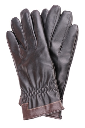 Leather Gloves Isolated photo