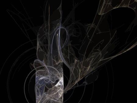 green smoke: Vector Illustration of digital fractal