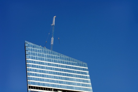 skyscraper develop on sky background  photo