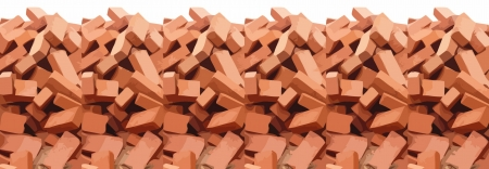 heap of red brick  Vector