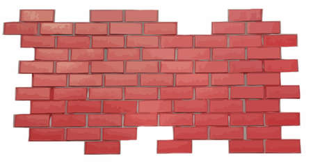 red brick wall vector Vector