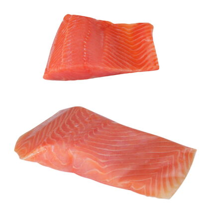 Two Piece of Red Fish Fillet Isolated on White photo