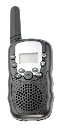 walkie: Walkie Talkie in Black Plastic Case Isolated