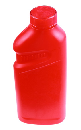 Red Plastic Bottle Isolated photo