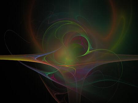 black background: Digital Fractal on Black