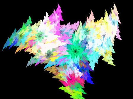 Vector Illustration of digital fractal Vector