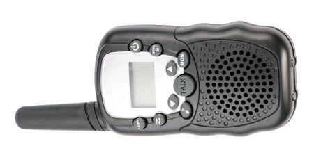 radio unit: Walkie Talkie in Black Plastic Case Isolated
