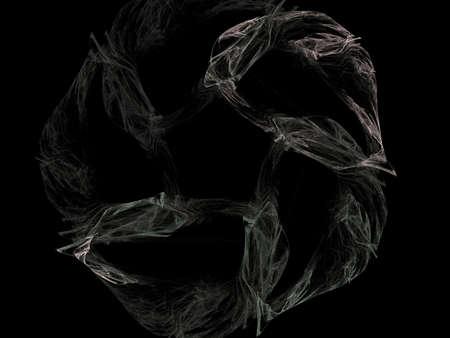 Digital Fractal on Black