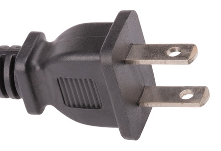 American Outlet Plug with Cord Isolated photo