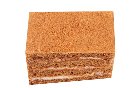 Sponge-cake Isolated Stock Photo