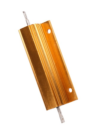 Resistor in Metal Case Isolated photo