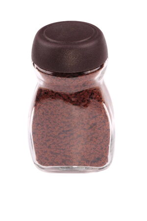 Jar of Instant Coffee Isolated photo
