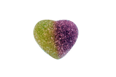 Fruit Jelly with Heart Shape Isolated photo