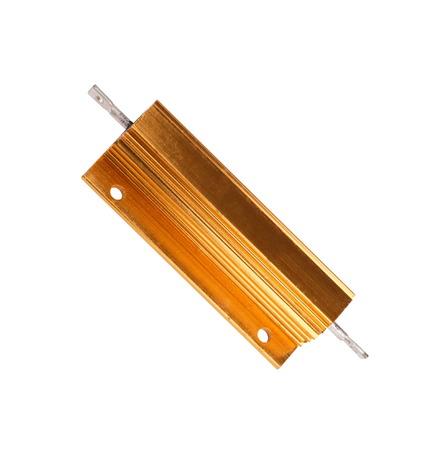 resistor: Resistor in Metal Case Isolated Stock Photo