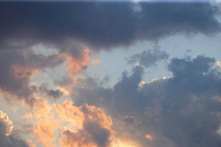sunset sky at summer photo