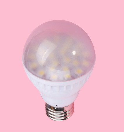 Led Tube Lamp on Pink Background photo
