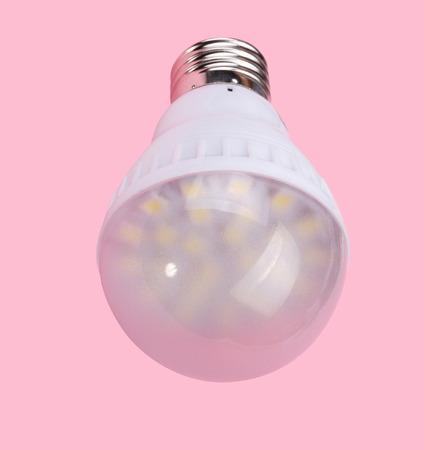 Led Tube Lamp on Pink Background photo