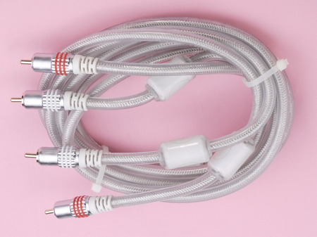 Interconnect Cable on Pink Background photo