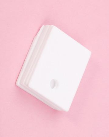 insulator: ceramic insulator on Pink Background