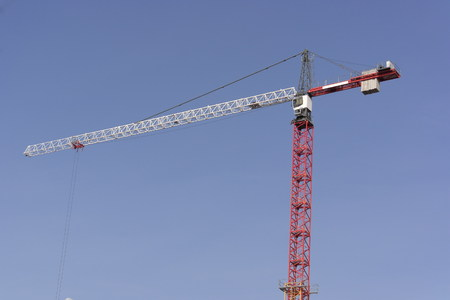 crane tower: Crane Tower on Sky Background Stock Photo