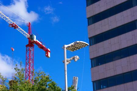 Crane Tower on Sky Background photo
