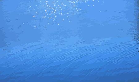 asterix: glare on water Illustration