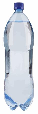 Wasser in der Flasche mit blauen Cup Vektorgrafik