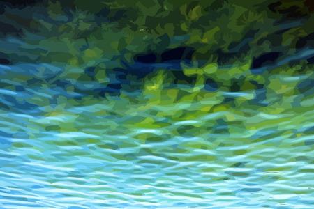 pellucid: ripple on water vector Illustration