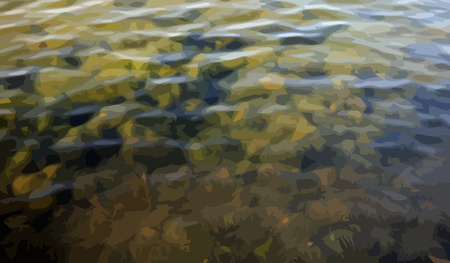motton blue: ripple on water vector Illustration