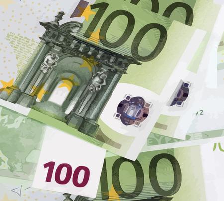 banknote: euros banknote of hundreds Illustration
