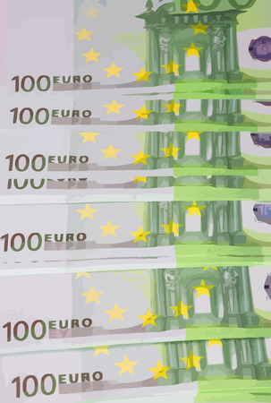 hundreds: europe euros banknote of hundreds vector Illustration