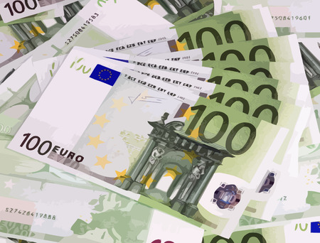 hundreds: europe euros banknote of hundreds