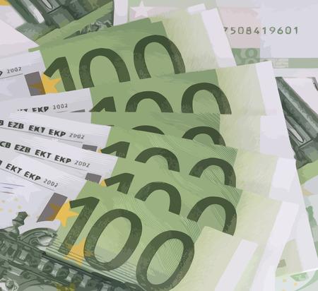europe closeup: europe euros banknote of hundreds