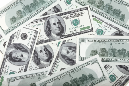 hundreds: american dollars hundreds banknote Illustration