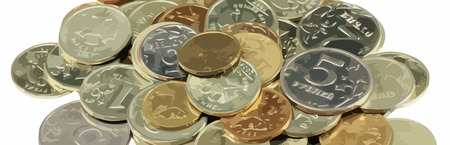 rouble: scattering of coins