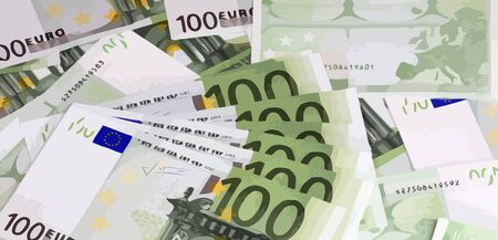 hundreds: europe euros banknote of hundreds vector Stock Photo