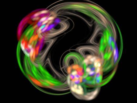 fractality: image of one Digital Fractal on Black Color
