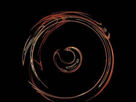 llamas de fuego: imagen de una fractal digital en color Negro
