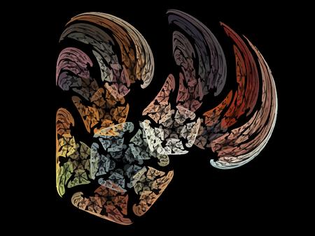 digital: Digital Fractal on Black Color