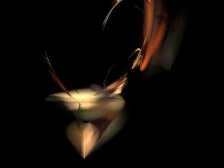 diamonds on black: image of one Digital Fractal on Black Color
