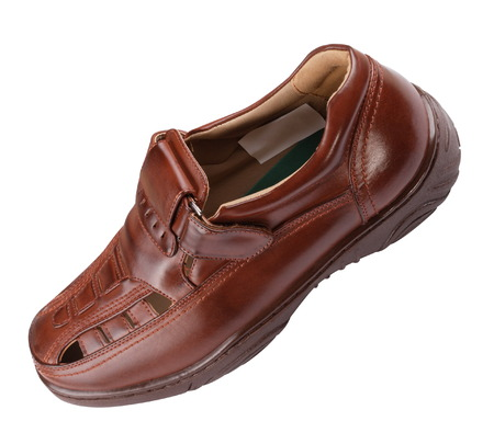 sandal: Hombre sandalia Aislado Foto de archivo