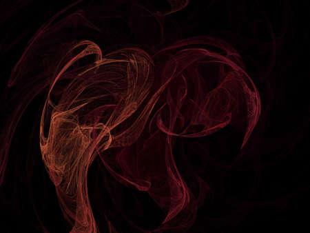 black background: image of one Digital Fractal on Black Color