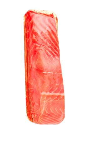 redfish: piece of red fish fillet isolated on white Stock Photo