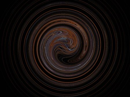elegant design: image of one Digital Fractal on Black Color