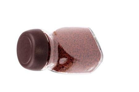 instant coffee: Jar of Instant Coffee Isolated Stock Photo