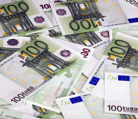 banknote: europe euros banknote of hundreds