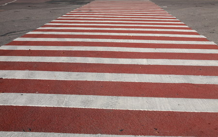 end of a long day: crossing on road