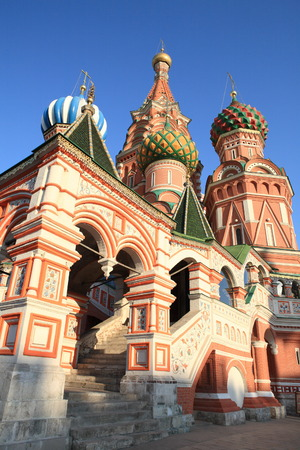 paskha: blessed  Basil cathedral at day