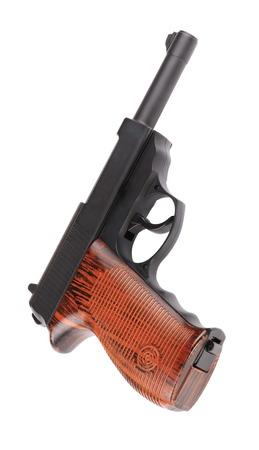 airgun: pneumatic pistol isolated on white
