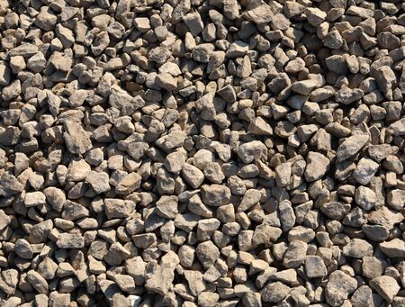 aggregates: gravel at sunny day